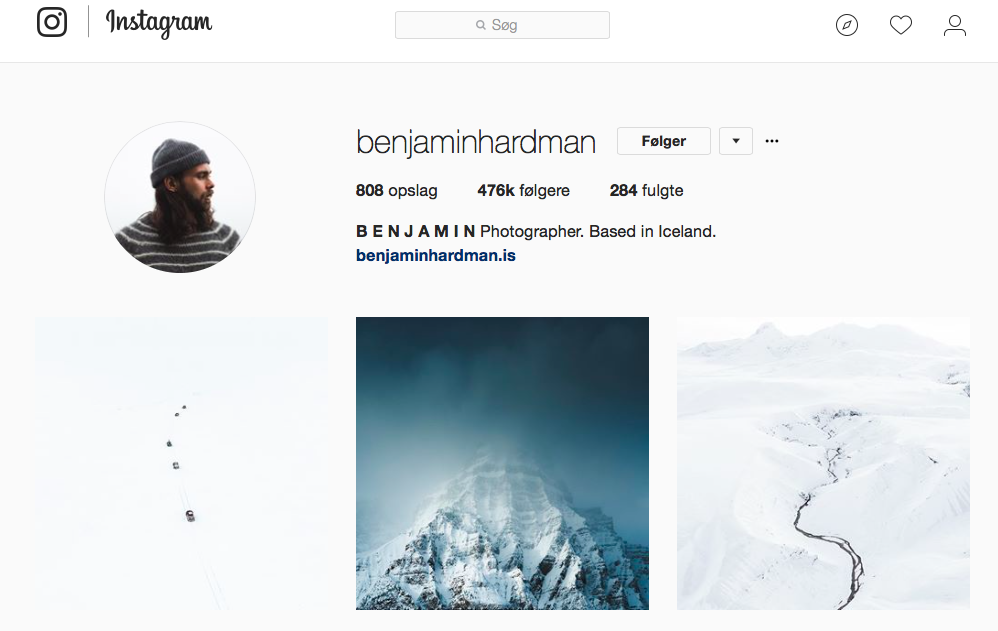 10 inspirerende Instagram -profiler for naturelskere - benjaminhardman