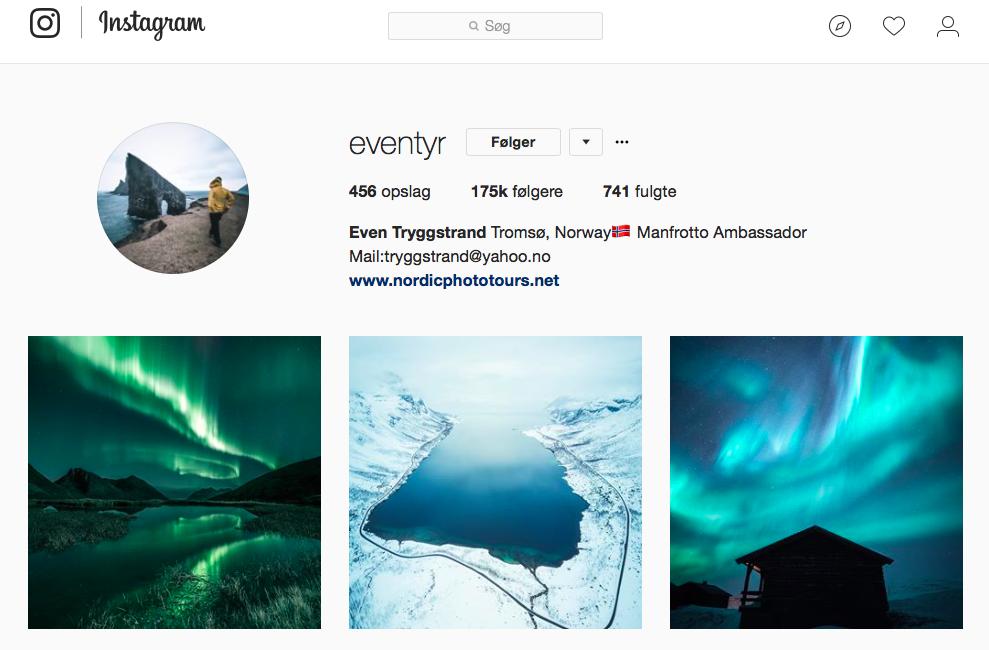 10 inspirerende Instagram -profiler for naturelskere - eventyr