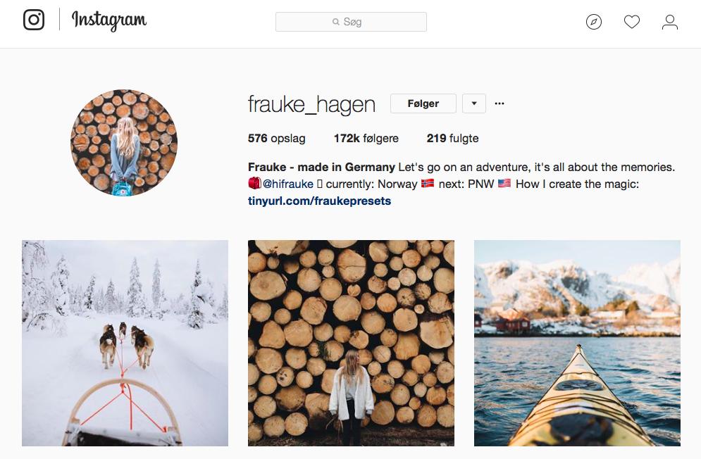 10 inspirerende Instagram -profiler for naturelskere - frauke_hagen