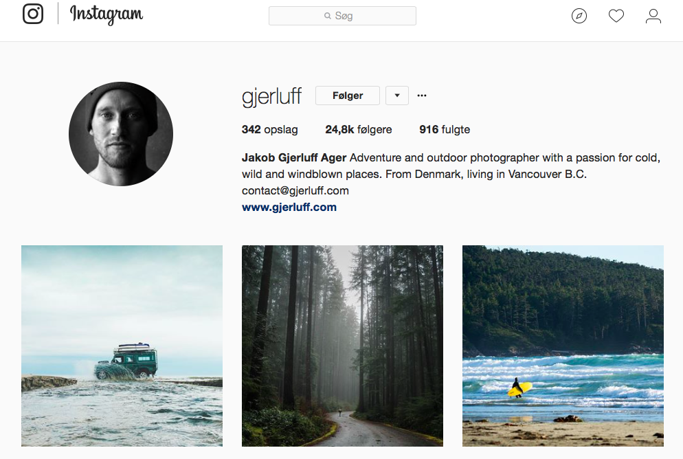 10 inspirerende Instagram-profiler for naturelskere - gjerluff