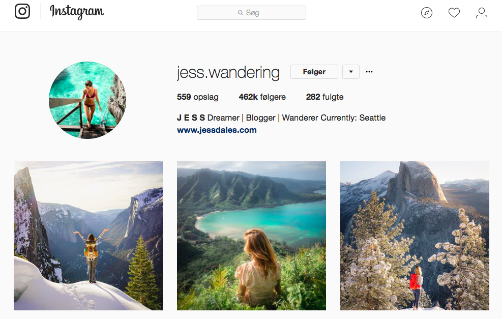 10 inspirerende Instagram-profiler for naturelskere - jess.wandering