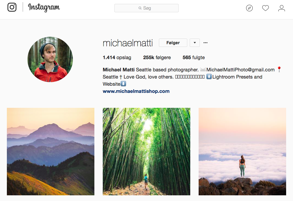 10 inspirerende Instagram-profiler for naturelskere - michaelmatti