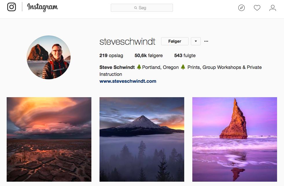 10 inspirerende Instagram -profiler for naturelskere - steveschwindt