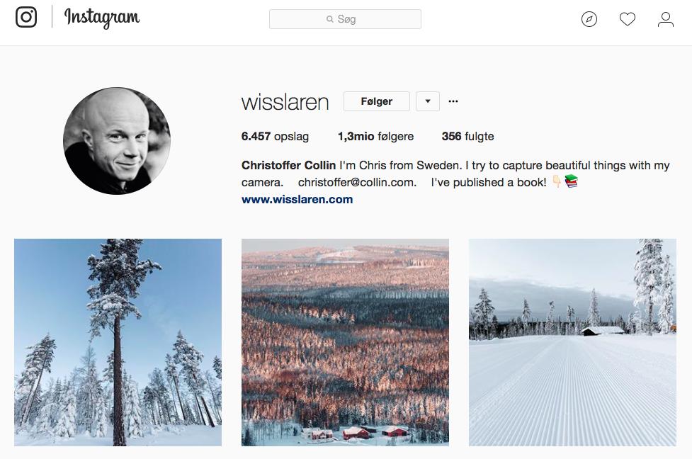 10 inspirerende Instagram -profiler for naturelskere - wisslaren