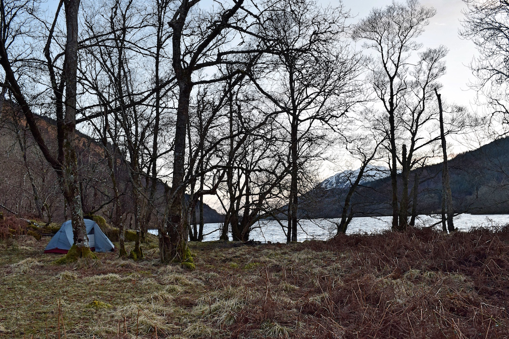 Great Glen Way wild camping