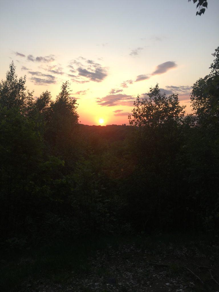 Skåneleden solnedgang