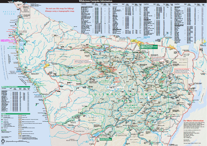 Wilderness trip planner Olympic National Park