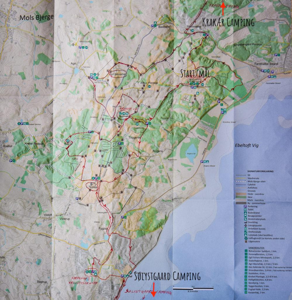 Mols Bjerge Kort Over Vandrerute Hike My Heart Out En Blog Om