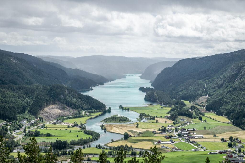 Udsigt fra Rofjellet på vandreferien i Sydnorge